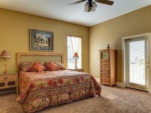 2nd Floor King Size Master Bedroom with Master Bath Balcony overlooking Pool