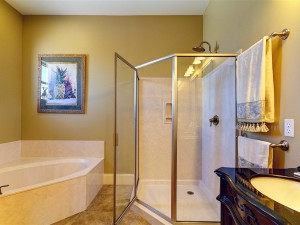 Master Bathroom on 2nd Floor with Garden tub and walk in shower