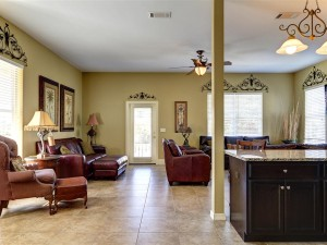 Our open plan living room dining room and kitchen area is great for family time
